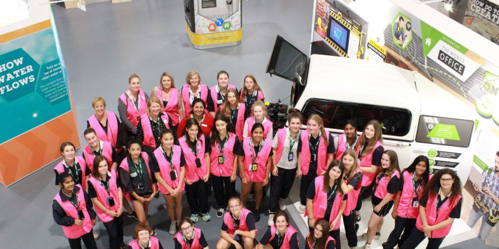 Participants in the inaugural Girls in Property program.