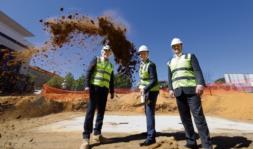 Sod turning marks start of Quest Joondalup hotel construction