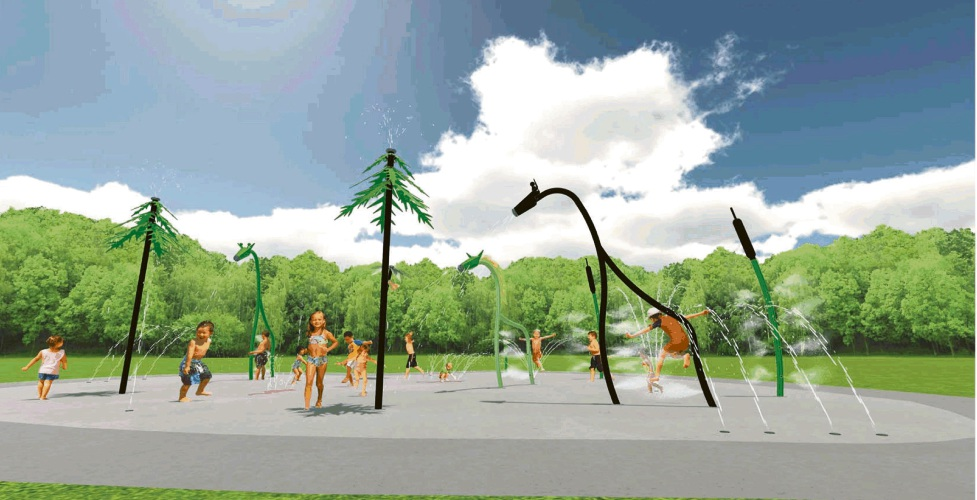 An artist's impression of the Kingsway water playground.