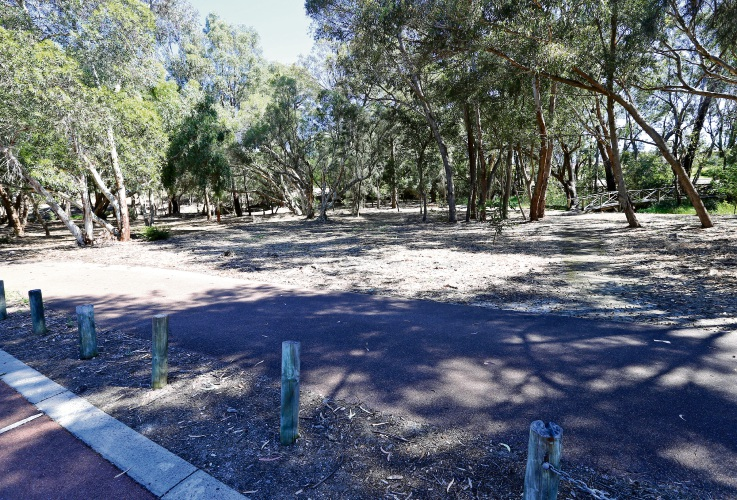 Hinds Reserve could be transformed with a bike trail. Picture: David Baylis www.communitypix.com.au d487810