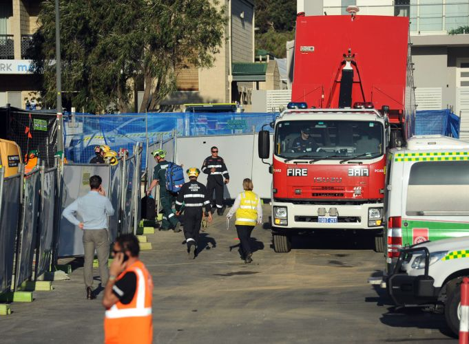 A Department of Fire and Emergency Services urban search and rescue team and their vehicle were part of the recovery.