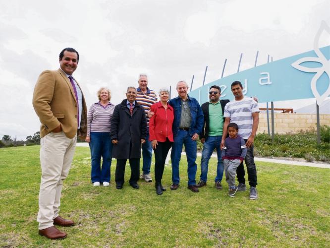 Jandakot MLA Yaz Mubarakai with Treeby residents.