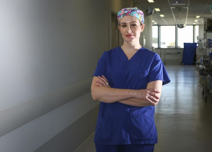 Fiona Stanley Hospital heart and lung surgeon Nikki Stamp will present as part of the Fiona Wood Public Lecture Series. Picture: Matt Jelonek.