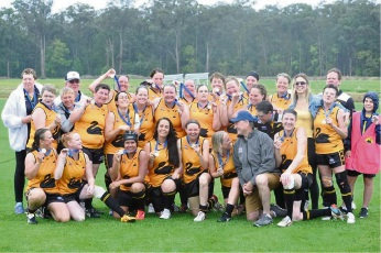 The victorious WA masters football team.