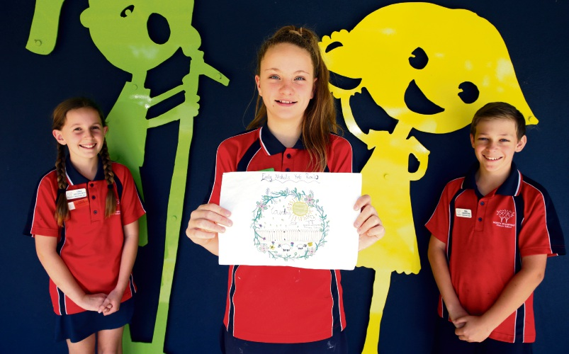 North Woodvale Primary School Year 6 students Chloe Duckworth, Emily Nicholls and Billy Griffiths. Picture: Martin Kennealey d487558