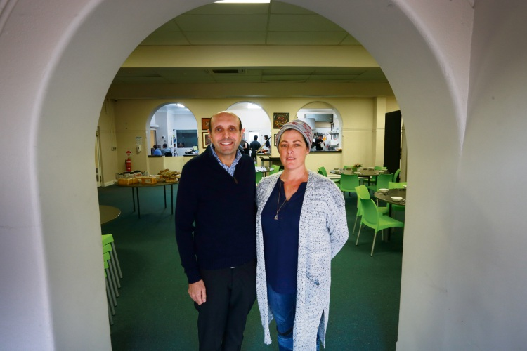 St Patrick's Community Support Centre CEO Michael Piu and Prue (Crisis Accommodation Case Worker).