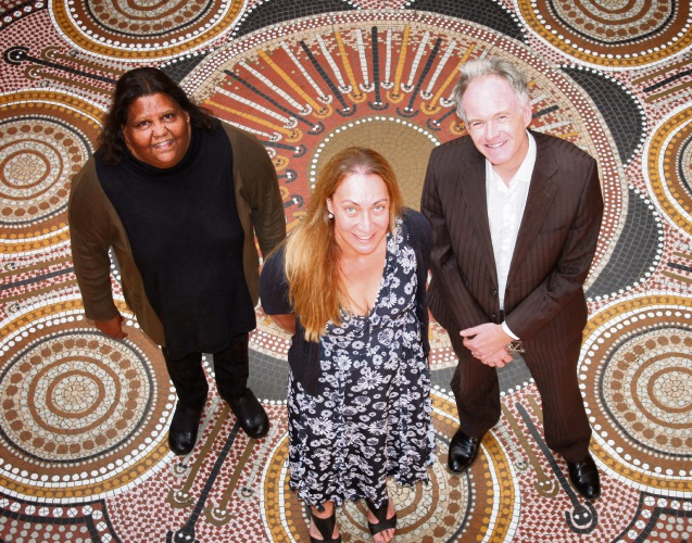 Centre for Aboriginal Studies Director Professor Marion Kickett, Dr Tracy Westerman and Head of the School of Psychology at Curtin Professor Adrian North