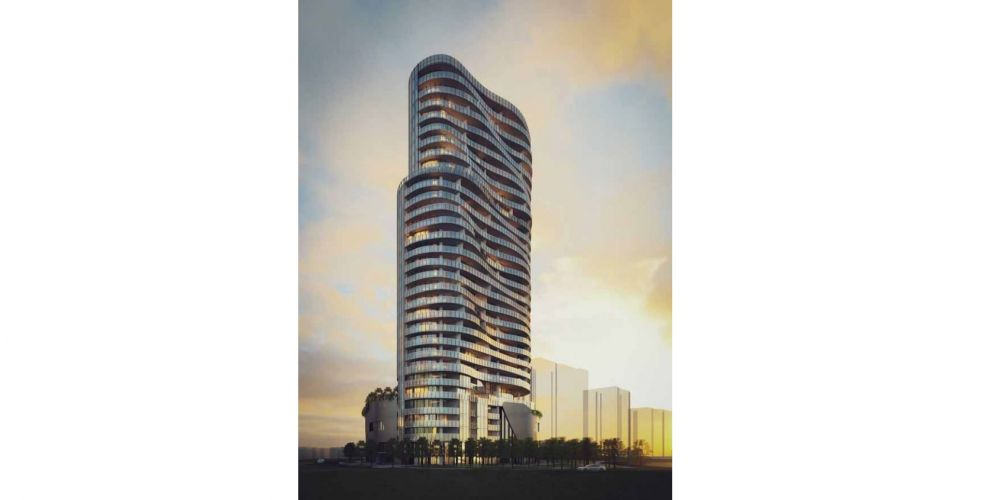An artist impression of Mirvac's 31-storey Tower 6, approved for the Burswood Peninsula