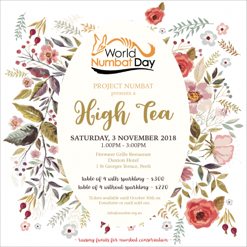 World Numbat Day High Tea