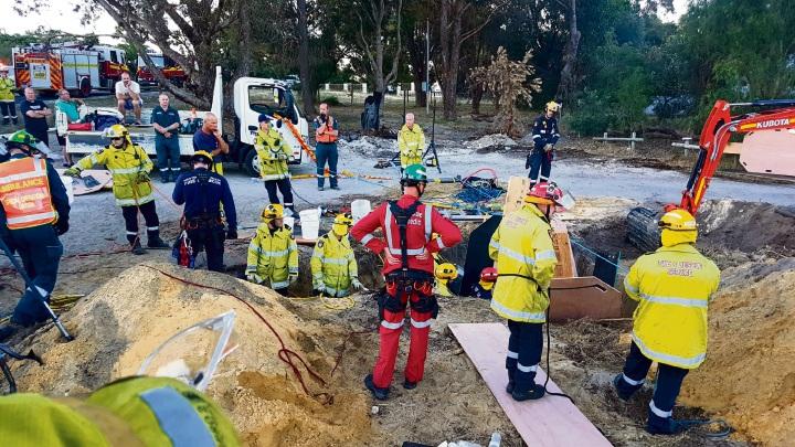 The scene of the rescue of Riley Stiles in November last year.