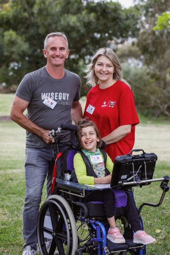 Coogee's Jana Edmondson at the Motor Mouth camp with her parents Paul and Verena.
