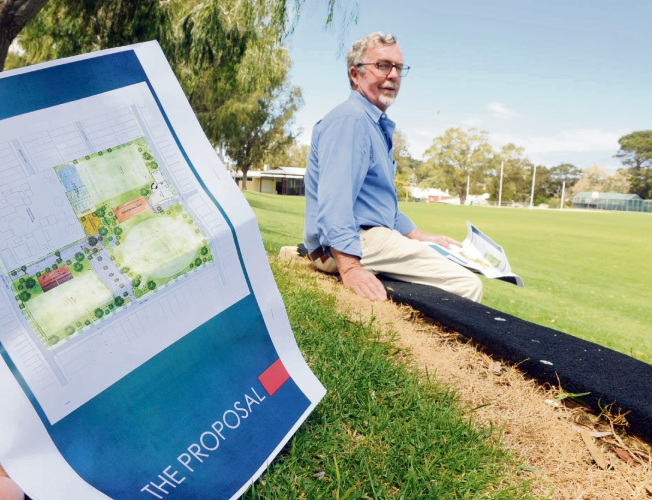 Mosman Park Mayor Brett Pollock says proposals to revamp Mann and Davis ovals have a long way to go. Picture: Jon Bassett.