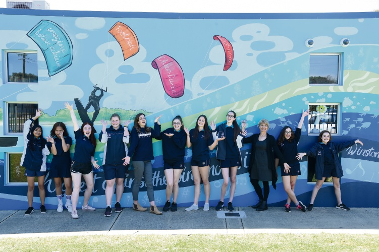 Mural for Safety Bay Senior High School's 40th anniversary