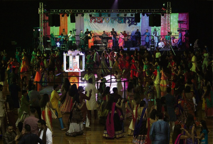 About 5400 people attended Navrang over four nights in October.