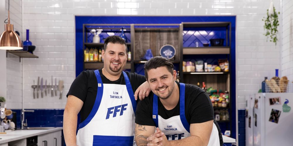 Leon and Cory - Team Tartaglia take to the kitchen in Family Food Fight.