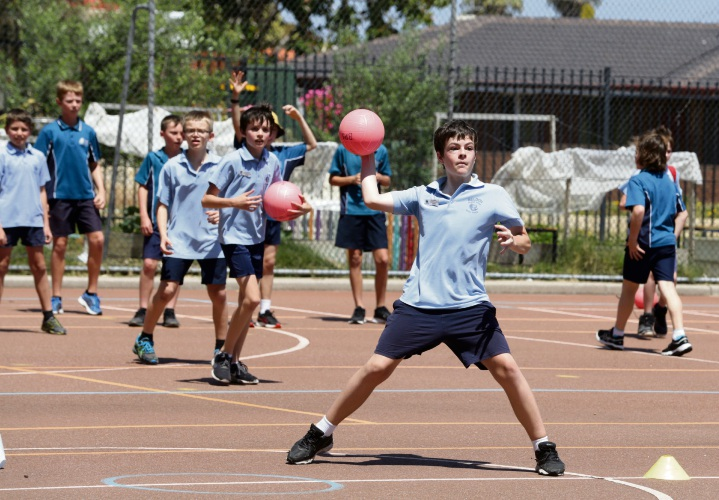 Beldon Primary School hosted an interschool dodgeball tournament. Picture: Martin Kennealey www.communitypix.com.au d488123