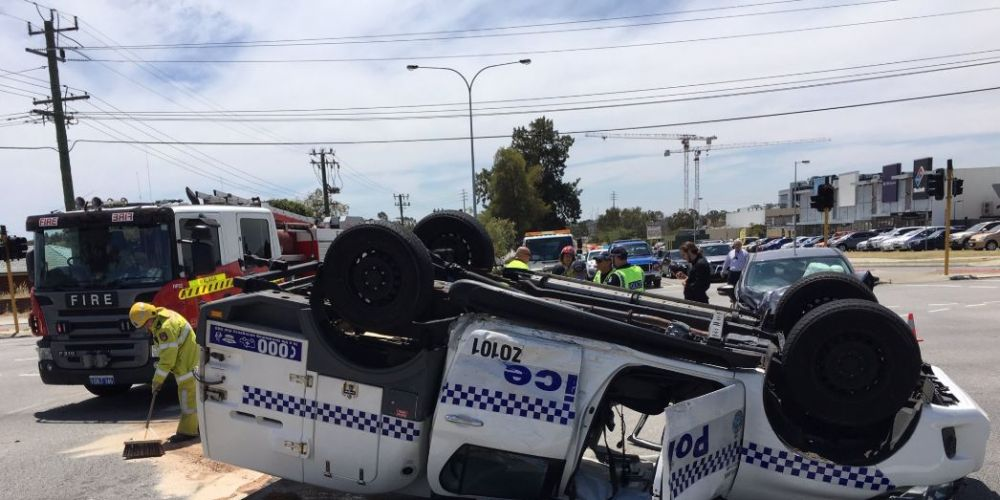 The scene in Dianella this morning. Photo: Twitter/7 News