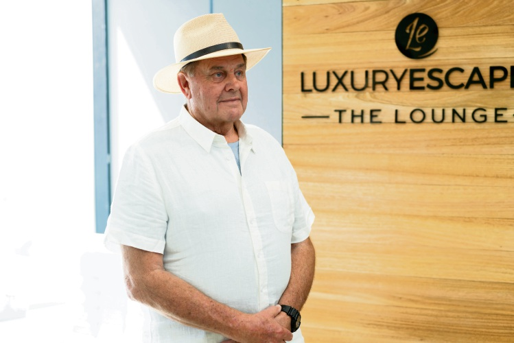 Graeme Hunt (74) was one of 10 senior interns at Luxury Escapes. Picture: Tim McCartney