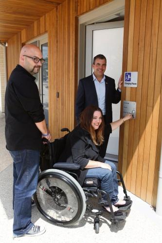 Brooke Franklin (Osborne Park) with partner Martin Doherty and Stirling Mayor Mark Irwin.