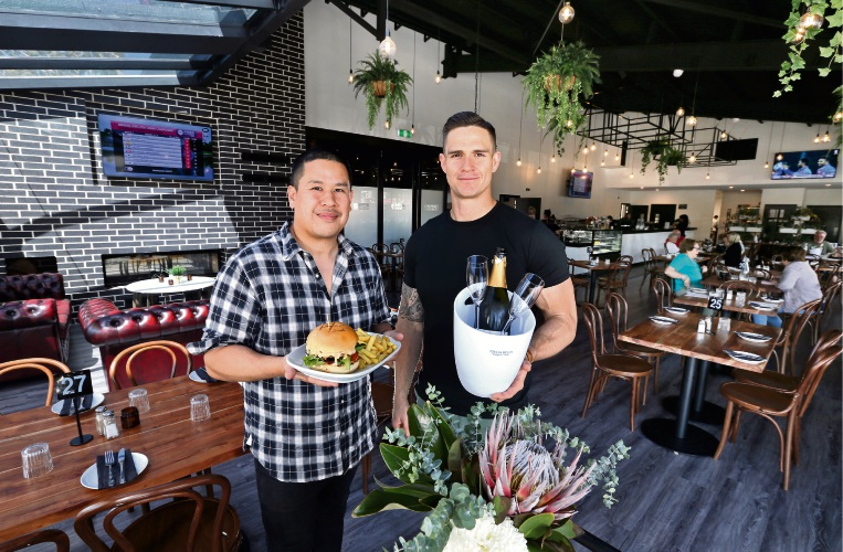 Nat and Mat Graham-Helwig are directors of the newly opened Riverton Bar and Grill. Picture: David Baylis www.communitypix.com.au d488090