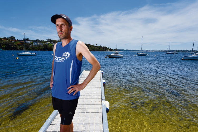 Bicton resident Rob Goyen will run from his house to Dunsborough to motivate stroke victims into taking the first step for recovery. Picture: Jon Hewson. d488119