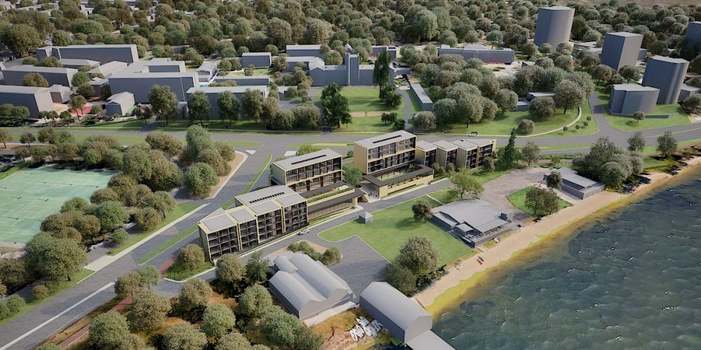 Artist's impression of the view down on Forrest Hall stage one and two. Picture: Kerry Hill Architects