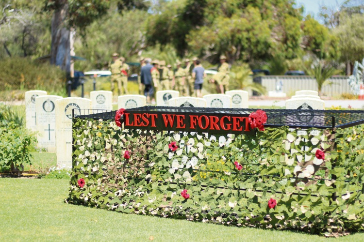 Remembrance Day service in Nedlands in 2017.
