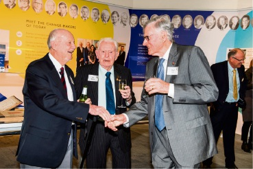 Les Wearne (centre) with REIWA life members Bryan Mickle and Paul Druitt
