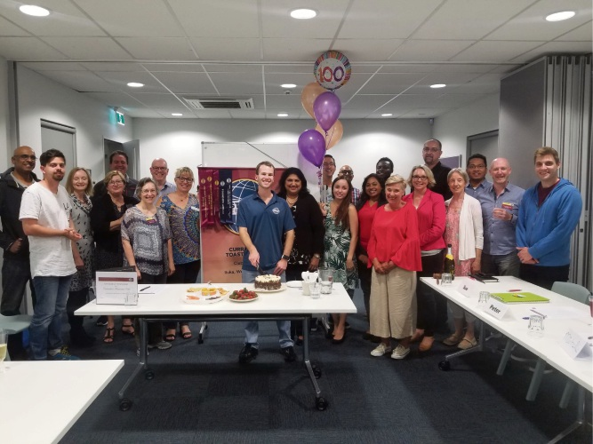 Currambine Toastmasters held its 100th meeting in October.