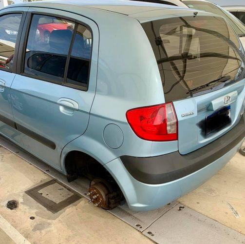 Wheel stolen from car at Mandurah Forum