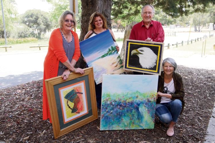 Jaquie Payton, Christine Farrell, George Payton and Gillian Roulston. Photo: Bruce Hunt