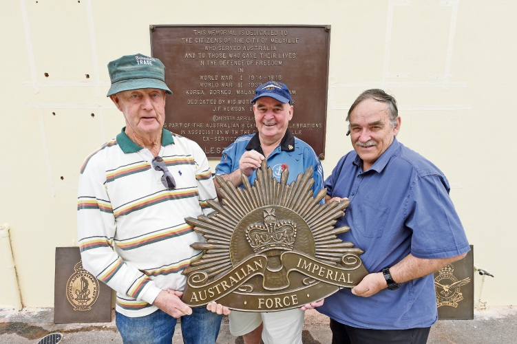 Applecross RSL Sub Branch treasurer Wayne Smith, president Craig Chapman and secretary Barry O'Neill. Picture: Jon Hewson