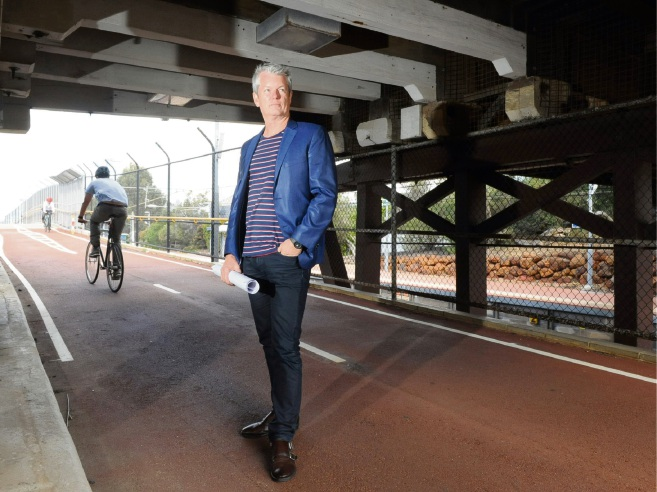 Architect Neil Cownie wants the old bridge for cyclists and walkers if a new vehicle bridge is built to its east in Swanbourne.  Picture: Jon Bassett.