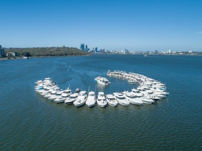 The second largest raft up happened on the Swan River