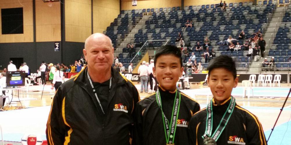 Wellard brothers win gold and silver at Taekwondo nationals