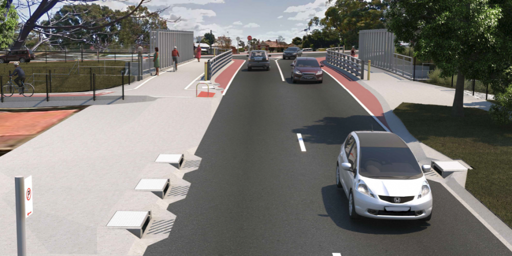 An artist's impression of the new Hamilton Street bridge in West Leederville.
