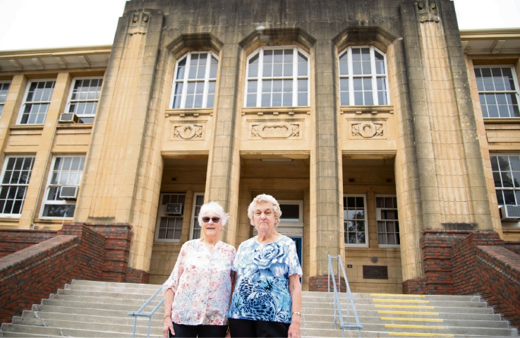 Past pupils of Old Perth Girls School Margaret Le Fevre and Joan King.
