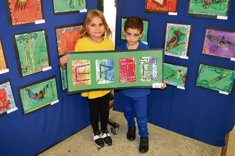 Westminster Junior Primary School Year 2 student Nevaeh Dempster and Year 1 student Rick Stramsek. Pictures: Kristie Lim