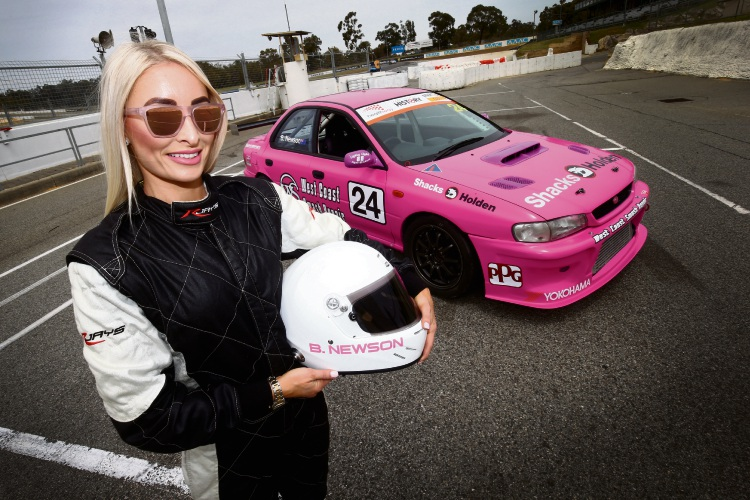 Racing driver Brooke Newson will represent Perth in the Improved Production Nationals race on November 8 in Adelaide. Picture: Matt Jelonek.