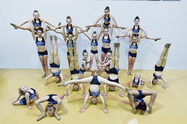 Acrodanz dancers competing in Follow Your Dreams National Dance Competition
