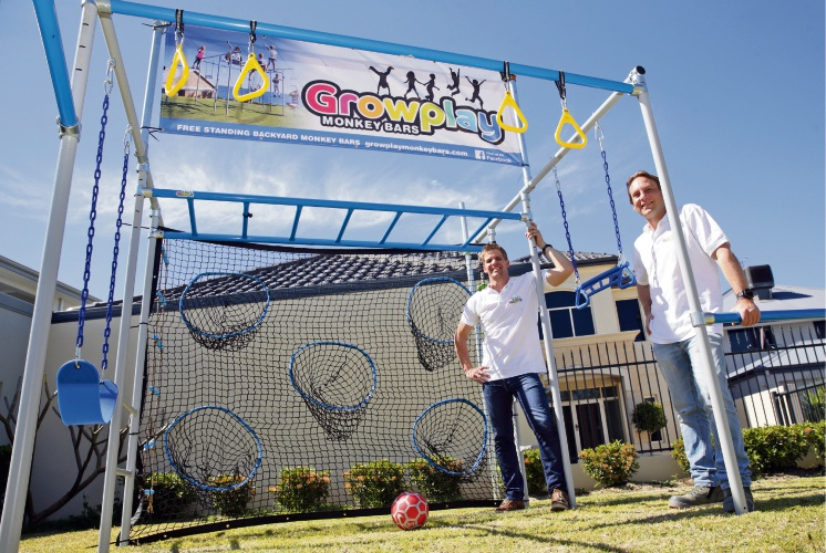 Dylan Smith, of Stirling, and Shane Janicki, of Hillarys, from Growplay Monkey Bars. Picture: Martin Kennealey d486940