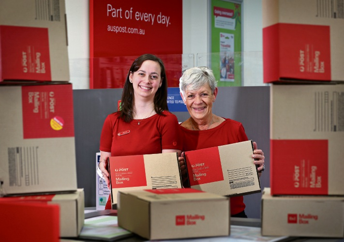 (L-R) Jemma Zugaro (Postal Manager) and May Coleman (Postal Service Officer) at the Willetton Post Shop. Photo: David Baylis