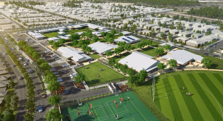 An artist's impression of the school in east Banksia Grove, will be called Grandis Primary School.