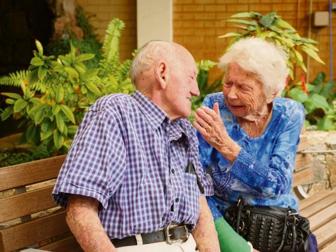 Beryl and Ian Osborne reunited at their new unit at SwanCare Bentley Park