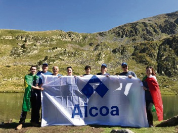 Paul Dwyer (second left) and Erika Branski (centre) travelled to the Pyrenees to help research climate change.