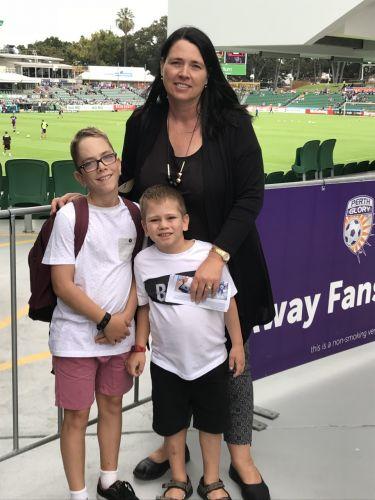 Megan Norbury, Angus (12) and Saxon (7)