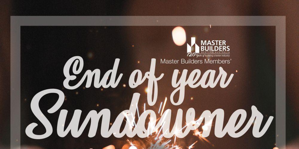 Master Builders Members' End of Year Sundowner