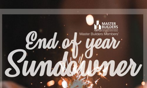 Master Builders Members' End of Year Sundowner