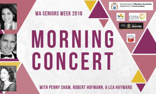 WA Seniors Week Morning Concert