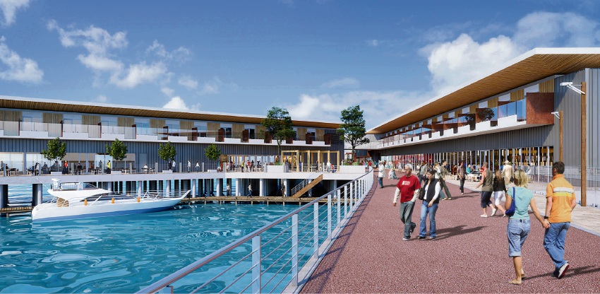 An artist's impression of the Port Rockingham marina.